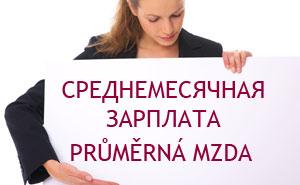 Среднемесячная зарплата в Чехии